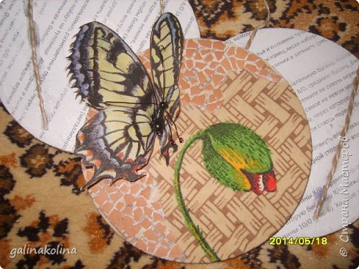 Мастер-класс Поделка изделие Декупаж Моделирование конструирование Бабочек я делаю так  Клей Проволока Салфетки Ткань фото 19