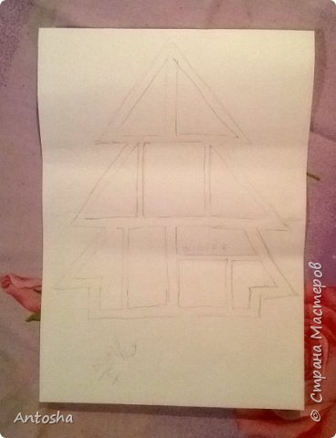Мастер-класс Поделка изделие Новый год Рождество Моделирование конструирование Елочка в стиле shadow-box Бумага Пеноплен фото 2