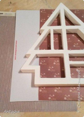 Мастер-класс Поделка изделие Новый год Рождество Моделирование конструирование Елочка в стиле shadow-box Бумага Пеноплен фото 8