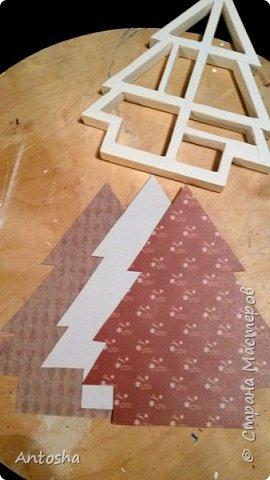 Мастер-класс Поделка изделие Новый год Рождество Моделирование конструирование Елочка в стиле shadow-box Бумага Пеноплен фото 9