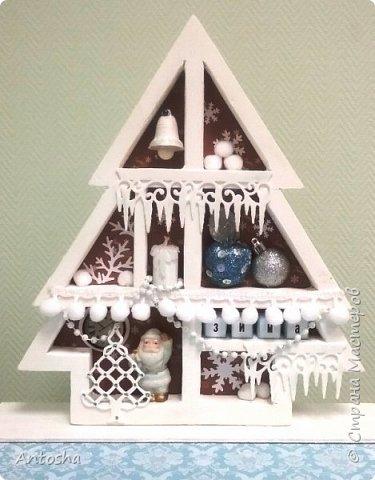Мастер-класс Поделка изделие Новый год Рождество Моделирование конструирование Елочка в стиле shadow-box Бумага Пеноплен фото 21