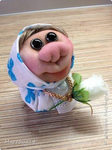 """Маленькие куколки - обереги сделаны по МК Елены Лаврентьевой """"Обережка - благополучница"""". Хороший вариант для подарочков. фото 3"""