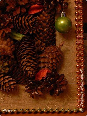 Всем новогоднего настроения и доброго времени суток! И снова небольшой МК к новой картине. Основной МК по изготовлению самой картины вы можете найти здесь: https://stranamasterov.ru/node/982422.   фото 18