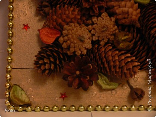 Всем новогоднего настроения и доброго времени суток! И снова небольшой МК к новой картине. Основной МК по изготовлению самой картины вы можете найти здесь: https://stranamasterov.ru/node/982422.   фото 23