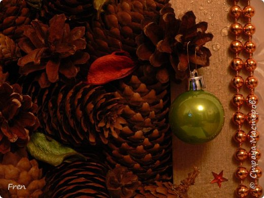 Всем новогоднего настроения и доброго времени суток! И снова небольшой МК к новой картине. Основной МК по изготовлению самой картины вы можете найти здесь: https://stranamasterov.ru/node/982422.   фото 25