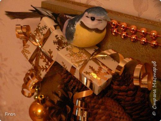 Всем новогоднего настроения и доброго времени суток! И снова небольшой МК к новой картине. Основной МК по изготовлению самой картины вы можете найти здесь: https://stranamasterov.ru/node/982422.   фото 27