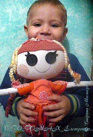 Доброго времени суток)))Вот ещё одна куколка.Попросили ребёнку сделать Лалалупси,что б своя.Не стала полностью копировать какую-нибудь из них-сделала что б совсем уж своя была. фото 6