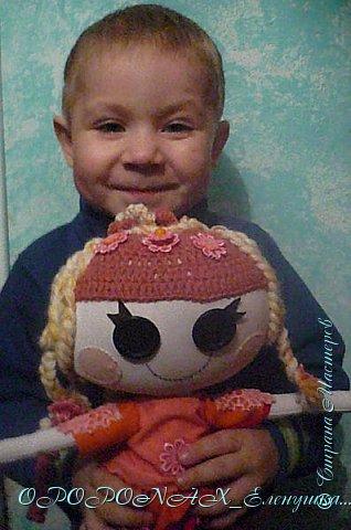 Доброго времени суток)))Вот ещё одна куколка.Попросили ребёнку сделать Лалалупси,что б своя.Не стала полностью копировать какую-нибудь из них-сделала что б совсем уж своя была. фото 7
