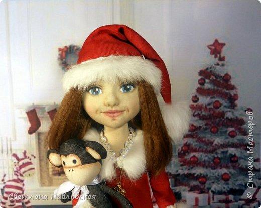 Мила со своей обезьянкой готова к Новому году!!! А вы? фото 2