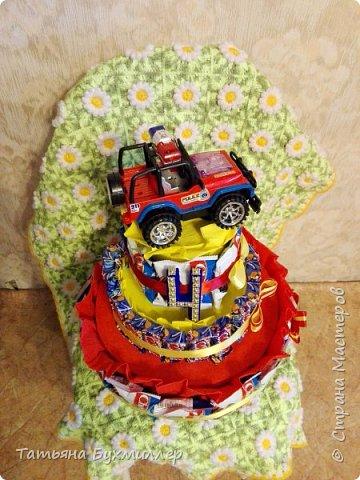 Сегодня у моего старшего сына др, вот такой тортик сотворился по этому поводу))) фото 2