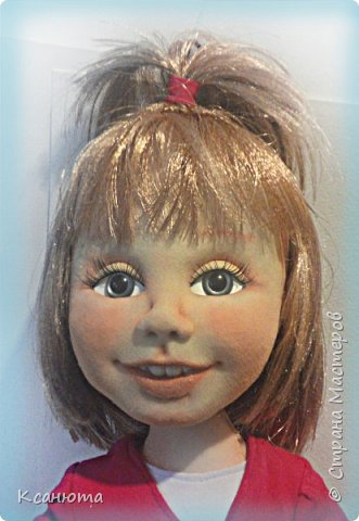Сделала куклу по фото.Эта самая маленькая девочка,которую пробовала сделать.И так приятно было работать. дети-они, как ангелочки. Вот такая, она получилась. фото 1