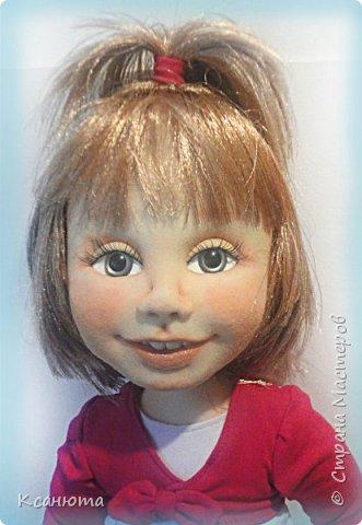 Сделала куклу по фото.Эта самая маленькая девочка,которую пробовала сделать.И так приятно было работать. дети-они, как ангелочки. Вот такая, она получилась. фото 7