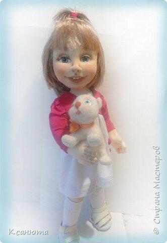 Сделала куклу по фото.Эта самая маленькая девочка,которую пробовала сделать.И так приятно было работать. дети-они, как ангелочки. Вот такая, она получилась. фото 3
