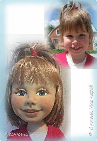 Сделала куклу по фото.Эта самая маленькая девочка,которую пробовала сделать.И так приятно было работать. дети-они, как ангелочки. Вот такая, она получилась. фото 5