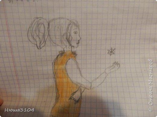 я часто рисую в школе ,дома вобьшем везде . вот рисунки которые я нарисовала в школе .  это я рисовала на музыке .  фото 2