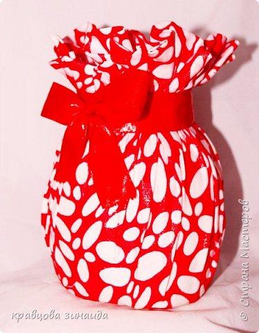 """ДОБРЫЙ ДЕНЬ МОИ ДОРОГИЕ!  сегодня я к вам новыми поделками , полюбила технику """" грунтовый текстиль """" вот и  сделала вазочку , получилась  вазочка с бантиком фото 3"""