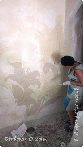 Доброго всем дня!))) Хочу похвастаться! Наконец то свершилось и ремонт закончен!!)))) Это вот такая у меня стена в зале! Думай, дай ка попробую со шпаклевки что-нибудь вылепить! Оказалось, совсем не сложно!!! фото 2