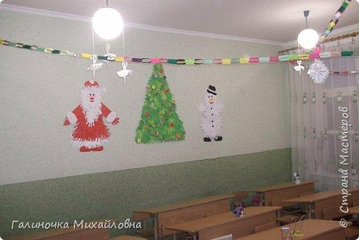 Вот так мы с детками первоклашечками украсили класс к Новому году. фото 1