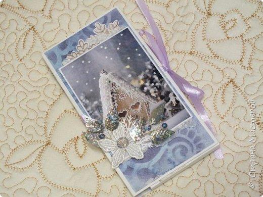Сегодня покажу вам новогодние работки...Это вот такая коробочка для новогоднего подарочка сложилась... фото 5