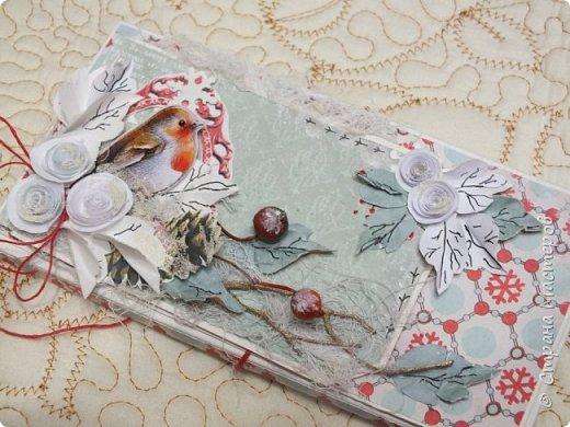 Сегодня покажу вам новогодние работки...Это вот такая коробочка для новогоднего подарочка сложилась... фото 7