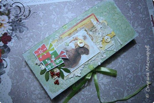 Сегодня покажу вам новогодние работки...Это вот такая коробочка для новогоднего подарочка сложилась... фото 1