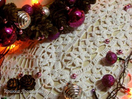 """Здравствуйте, друзья! Вот мои последние новогодние работы)  Веночек """"Фиолет"""") фото 2"""
