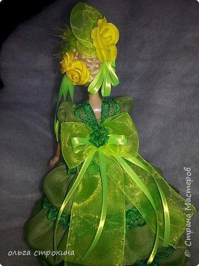 С хорошим настроением  и по просьбе  новой хозяйки  куклы, появилась эта куколка-елочка фото 5