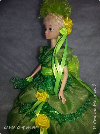 С хорошим настроением  и по просьбе  новой хозяйки  куклы, появилась эта куколка-елочка фото 4