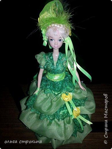 С хорошим настроением  и по просьбе  новой хозяйки  куклы, появилась эта куколка-елочка фото 6