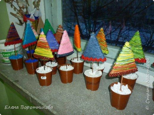 Мы готовимся к Новому году. Решили сделать ёлочки, использовали МК  Irina-Toshka Klimova. https://stranamasterov.ru/node/968066?c=favorite За что большое спасибо. фото 7