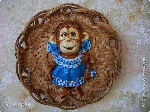 Здравствуйте дорогие мастера!!!!! Снова я к вам с обезьянками..........Делала как магниты, а потом решила, что в плетнках лучше. фото 2