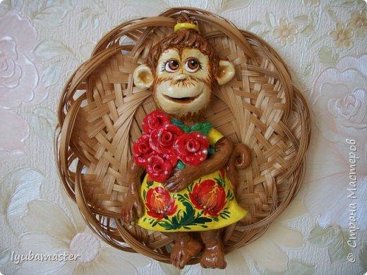 Здравствуйте дорогие мастера!!!!! Снова я к вам с обезьянками..........Делала как магниты, а потом решила, что в плетнках лучше. фото 3