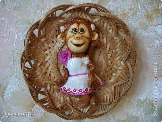 Здравствуйте дорогие мастера!!!!! Снова я к вам с обезьянками..........Делала как магниты, а потом решила, что в плетнках лучше. фото 4