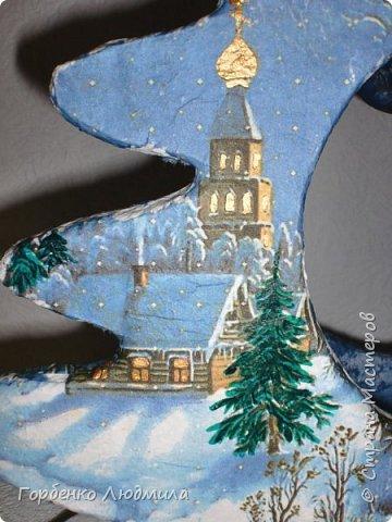 Бонсай топиарий ёлка Мастер-класс Новый год Рождество Декупаж Моделирование конструирование Папье-маше Ёлка-подвеска для новогоднего шара Картон Краска Салфетки фото 30