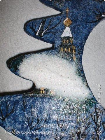 Бонсай топиарий ёлка Мастер-класс Новый год Рождество Декупаж Моделирование конструирование Папье-маше Ёлка-подвеска для новогоднего шара Картон Краска Салфетки фото 38