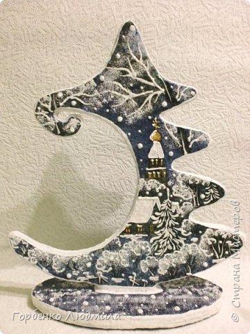 Бонсай топиарий ёлка Мастер-класс Новый год Рождество Декупаж Моделирование конструирование Папье-маше Ёлка-подвеска для новогоднего шара Картон Краска Салфетки фото 54