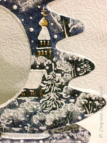 Бонсай топиарий ёлка Мастер-класс Новый год Рождество Декупаж Моделирование конструирование Папье-маше Ёлка-подвеска для новогоднего шара Картон Краска Салфетки фото 55