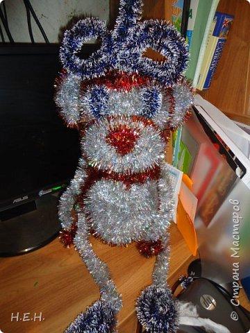 продолжаем тему Нового года. Решила по принципу совушки сделать обезьянку. фото 1