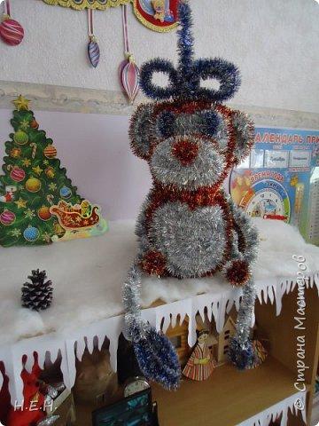 продолжаем тему Нового года. Решила по принципу совушки сделать обезьянку. фото 2