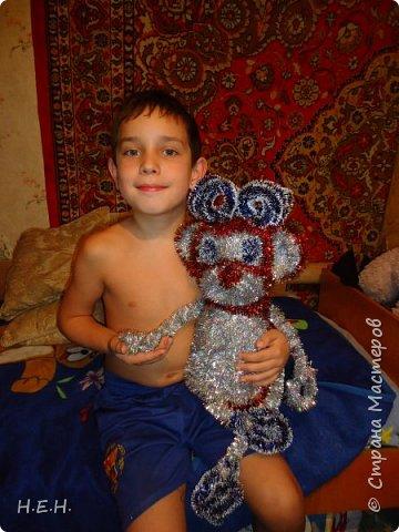 продолжаем тему Нового года. Решила по принципу совушки сделать обезьянку. фото 3