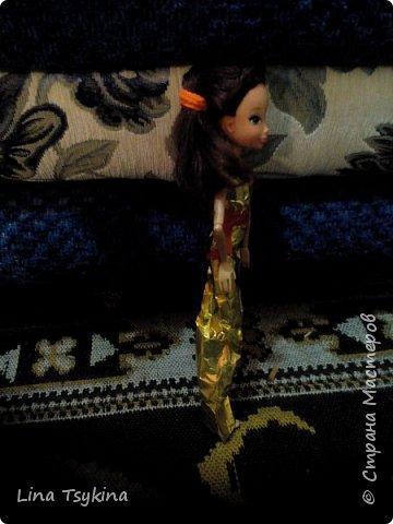 """Привет! Это моя работа на конкурс """" Новогоднее чудо """". Знакомтесь - это моя кукла Ирина ( в золотистом платье) и её подруга Софина. фото 2"""