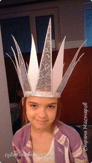 Вот такая корона Снежной королевы у меня получилась к костюму моей доченьке фото 6