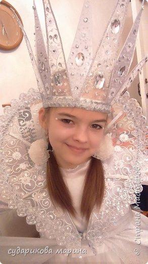 Вот такая корона Снежной королевы у меня получилась к костюму моей доченьке фото 1
