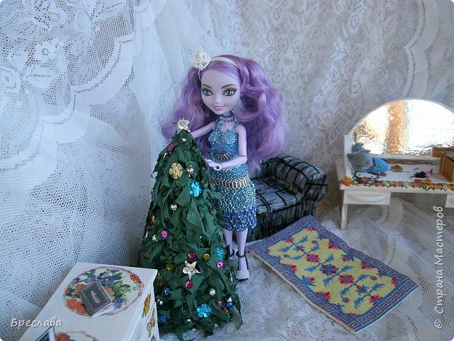 Участвовала в новогоднем обмене подарками. Вот, что  подарила я. Наряд на куклу Китти Чешир, Работу представляет моя Фиалка  фото 1