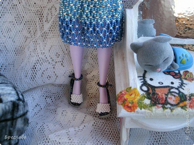 Участвовала в новогоднем обмене подарками. Вот, что  подарила я. Наряд на куклу Китти Чешир, Работу представляет моя Фиалка  фото 5