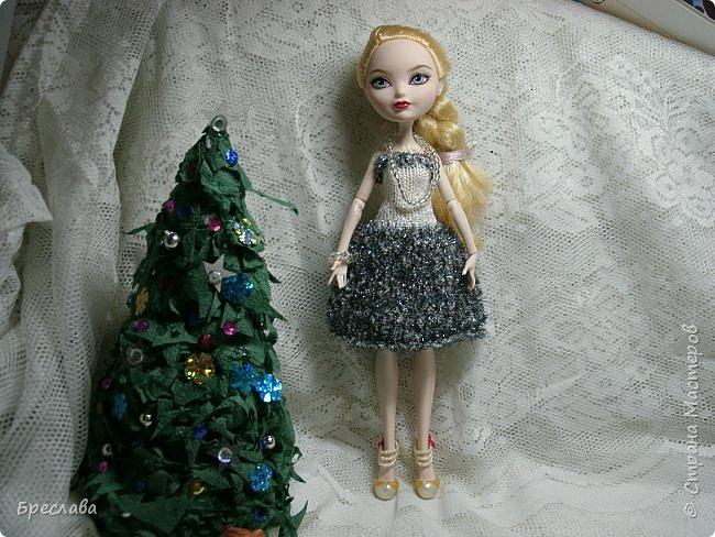 Участвовала в новогоднем обмене подарками. Вот, что  подарила я. Наряд на куклу Китти Чешир, Работу представляет моя Фиалка  фото 9