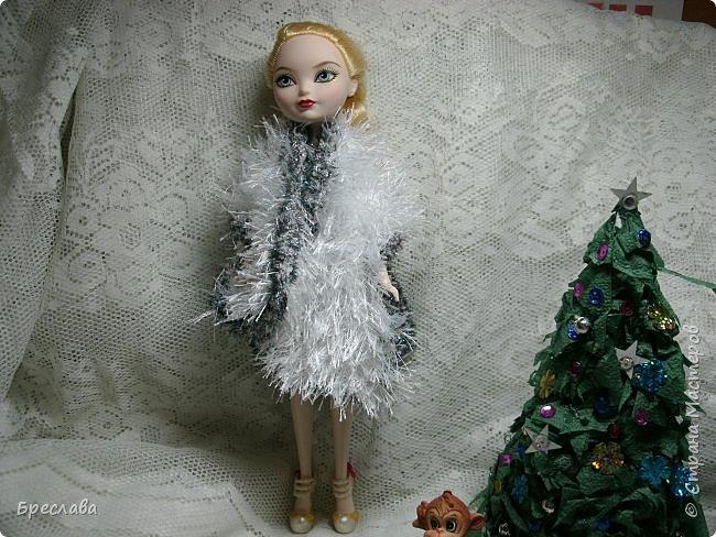 Участвовала в новогоднем обмене подарками. Вот, что  подарила я. Наряд на куклу Китти Чешир, Работу представляет моя Фиалка  фото 10