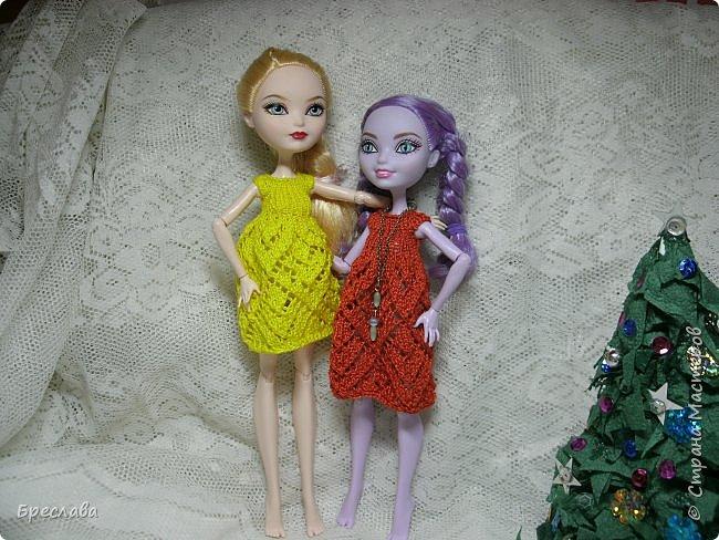 Участвовала в новогоднем обмене подарками. Вот, что  подарила я. Наряд на куклу Китти Чешир, Работу представляет моя Фиалка  фото 8