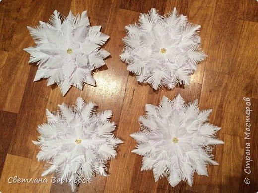 Увидела МК Дарьи https://stranamasterov.ru/node/978598?c=favorite по изготовлению снежинок и так захотелось сделать такие же. Огромное спасибо за мастер класс...!!!