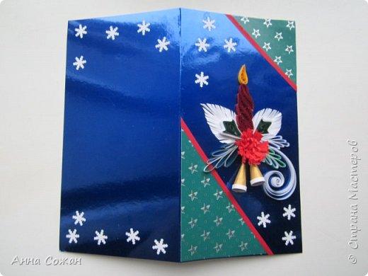 Доброго время суток дорогие Мастерицы!  В полном разгаре идёт подготовка подарков к Новому году. Начала с открыток. Приглашаю Вас посмотреть  на  результаты  моих трудов! Размер открыток 10Х15, 10Х19. Покажу каждую отдельно. фото 6